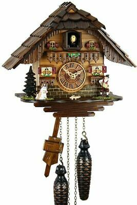 Black Forest House 22cm- Cuckoo Clock Cuckoo Clock Real Wood New Battery