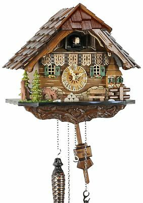 Black Forest House 25cm- Cuckoo Clock Cuckoo Clock Real Wood New Batter