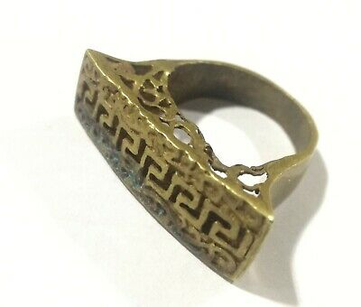 rare ancient  Romane bronze ring viking artifact bronze ring authentic Vintage