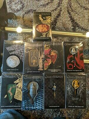 Game of Thrones Pin Bundle official licensed HBO Dark Horse Stark Lannister