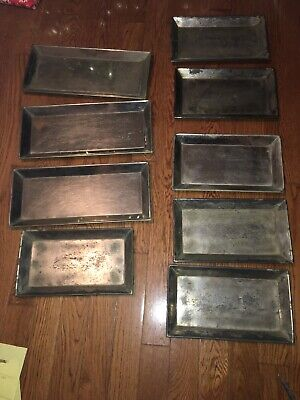 Lot Of 9 Metal Crandall Pettee Candy Chocolate Molds Tray