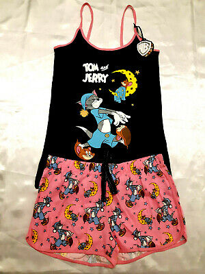 Tom & Jerry Official Wb Ladies Vest Top & Shorts Pyjama Set Pj's Bnwt Primark