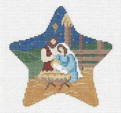 SP.ORDER ~ Nativity STAR Holy Family Ornament Needlepoint Canvas Susan Roberts