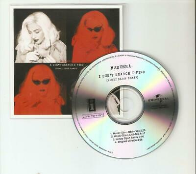 Madonna - I Dont Search I Find - Brand New Brazilian 4 Remix Official Promo Cd