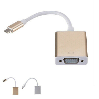 Type-C USB 3.1 Male To VGA Female Converter Cable For Chromebook Adapter
