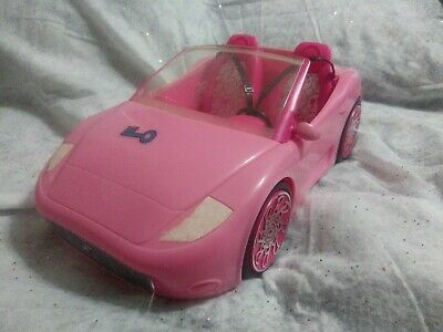 Barbie Glam Pink Convertible Car Mattel 2010 Sports Car 2 Seats Seat Belts W3158