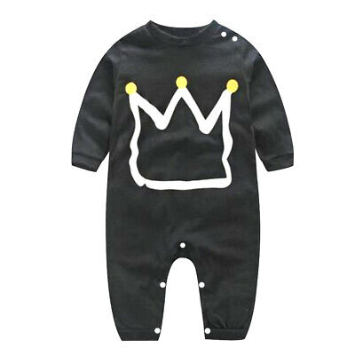 Toddler Kids Baby Boy Cotton Romper Jumpsuit Bodysuit Clothing Outfit