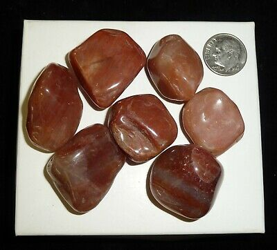 Red Aventurine Crystal Polished Chakra Stones Brazil 100 grams