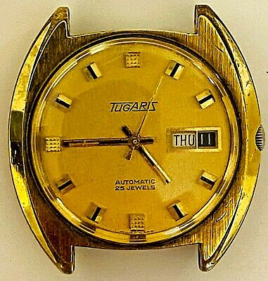 Tugaris Automatic Vintage Watch Jewels Men Swiss Rare Wrist Retro Old