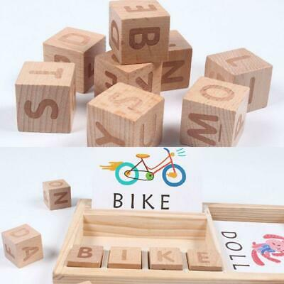 Baby Toy Wooden Spelling English Word Game Building Blocks Letters Kids Gift