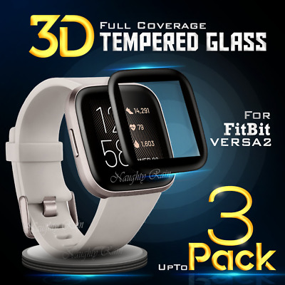 For Fitbit Versa 2 2019 Screen Protector Tempered Full Coverage Glass Guard