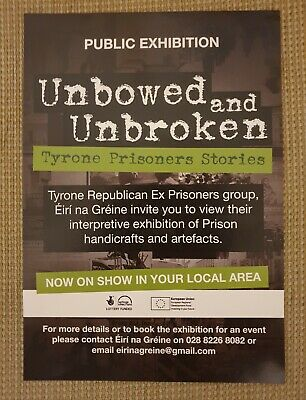 Tyrone Ex-Prisoners - IRA Exhibition - Artifacts Handcrafts Leaflet - Republican