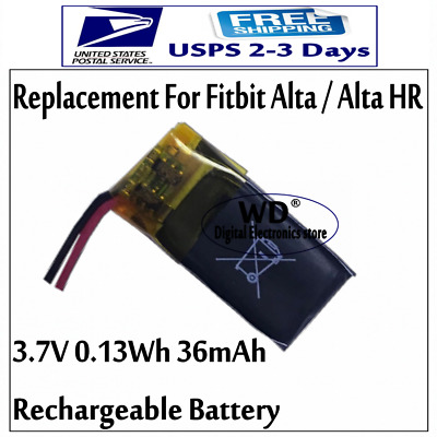 US 3.7v 36mAh Rechargeable Battery For Fitbit Alta For Alta HR Activity Tracker