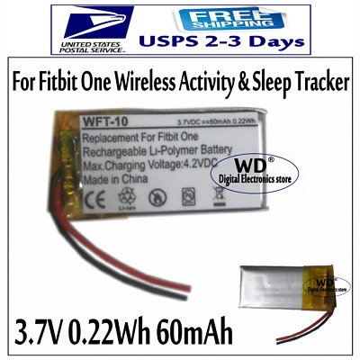 3.7V 60mAh Replacement Battery For Fitbit One Wireless Activity & Sleep Tracker