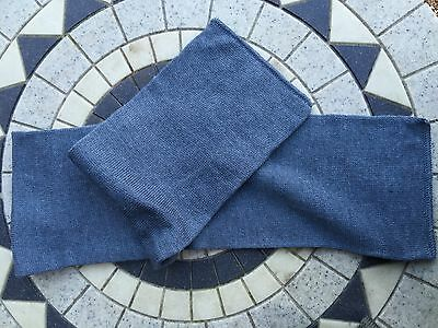 X2 New vintage 1960s Swedish blue grey wool scarfs / hats clothing