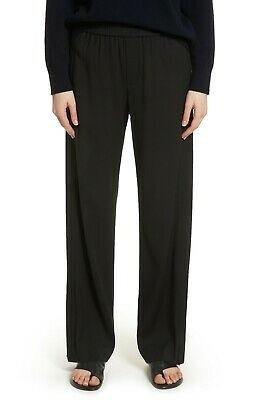 VINCE Wide Leg Pull on Pants Small Black MSRP $365