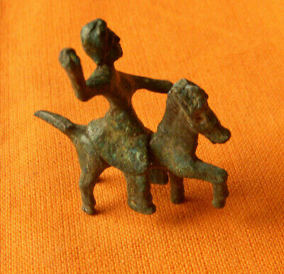 A64. Celtic style bronze horse and rifer figurine