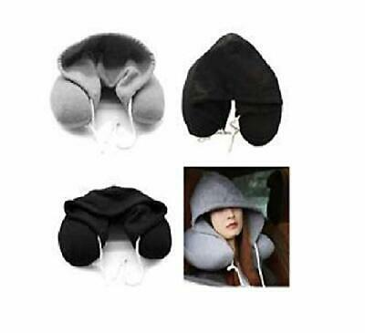 Travel Pillow Comfortabl Hooded Neck Cushion U Shape Airplane Pillow with Hoodie