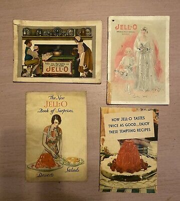 JELL-O Advertising Booklets ~ Lot of 4 ~ 1918 to 1934
