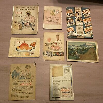 JELL-O Advertising Booklets ~ Lot of 8 ~ 1912 to 1931