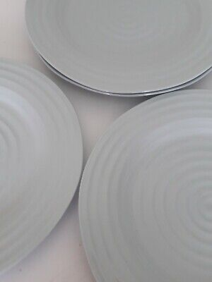 """SOPHIE CONRAN for PORTMEIRION-2 LARGE DINNER PLATES - 11"""" or 28cm -Pale Green"""