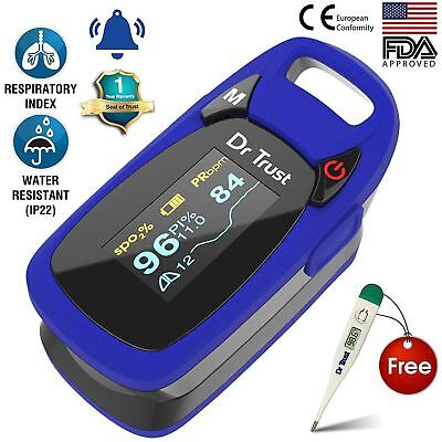 Dr Trust (USA) Professional Series Finger Tip Pulse Oximeter - Free Thermometer