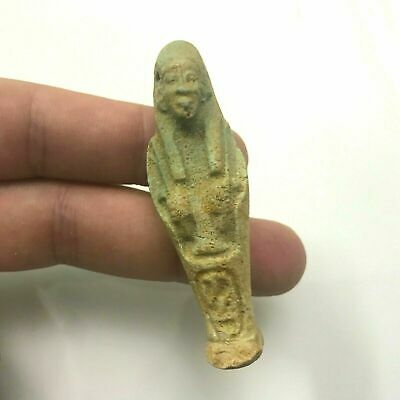 rare ancient Egyptian faience Ushabti amulet new kingdom 1549-1077 BC c