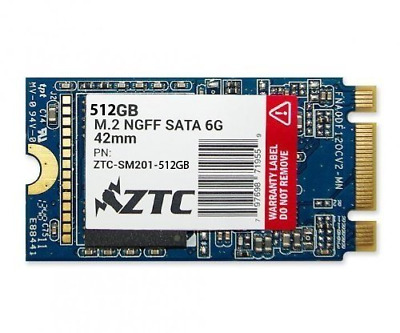 ZTC 512GB Armor 42mm M.2 NGFF 6G SSD Solid State Drive. Model ZTC-SM201-512G