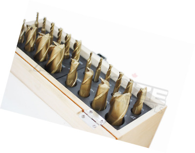 Accusize Industrial Tools 20 Pc H.S.S. Tin Coated End Mill Set, Metric Size, Cut
