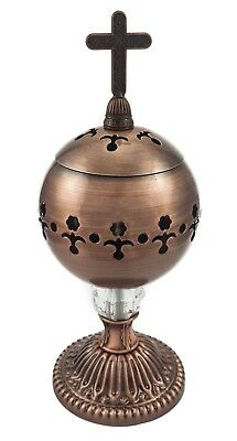 Catholic Bronze Censer Polished Brass Church Home Holy Incense Burner Distiller