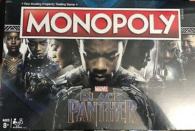 Black Panther Edition Monopoly Board Game Hasbro Marvel Brand New Sealed