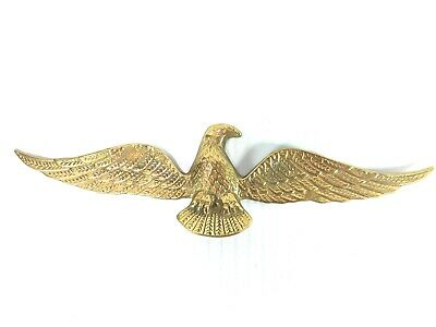 Vintage Brass American Eagle Wall Hanging Patriotic Decoration