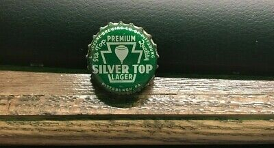 Vintage Silver Top Beer Pa Tax Pint Cork Bottle Cap Duquesne Brg Pittsburgh Pa