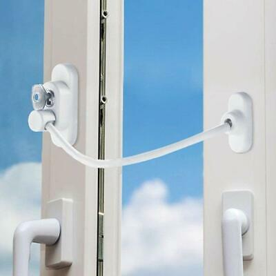 Universal Window Door Security Restrictor Baby Safety Cable Lock Catch Wire New