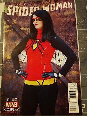 Spiderwoman 1 Cosplay Cover Variant Marvel Comics 2016