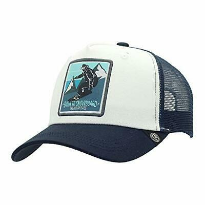 The Indian Face Snowboard Gorra Born to Snowboard Hombre y Mujer, Color Blanca