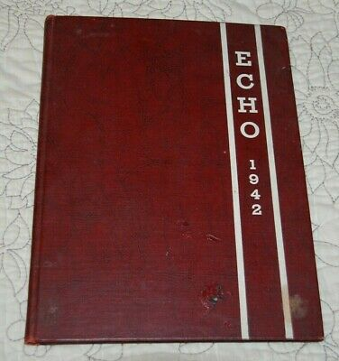 Rare Vintage 1942 Fayette County Alabama HS Yearbook with DISNEY / DONALD DUCK