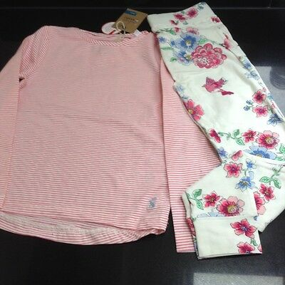 JOULES JUNIOR STARLIGHT PINK PYJAMAS SET. AGE 5 to 6. NEW WITH TAG.