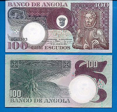 Angola P-106 100 Escudos Year 1973 Uncirculated Banknote