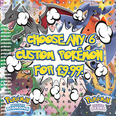 Pokemon Sword & Shield | Choose Any 6 Custom Pokemon | 6IV | EV | + Ditto offer
