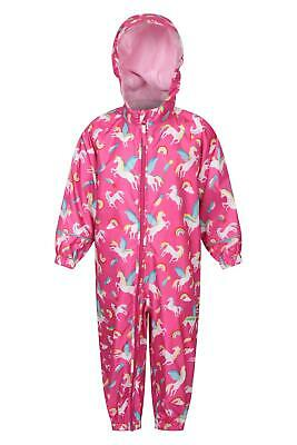 Mountain Warehouse Puddle Kids Printed Rain Suit with Taped Seams