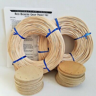 22 Reed Basket Kits with Instructions Brown Hand Basket Weaving Arts & Crafts