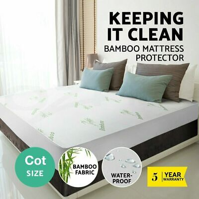 BABY COT Luxury Bamboo Mattress Bed Matress Protector Waterproof Summer Cooling