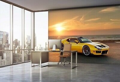 Details about  /3D White Car R70 Transport Wallpaper Mural Sefl-adhesive Removable Zoe