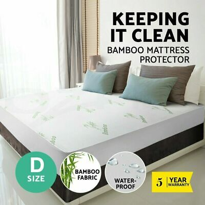 DOUBLE Luxury Bamboo Mattress Bed Matress Protector Waterproof Summer Cooling