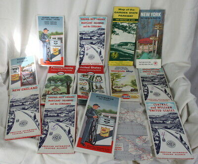 Vintage Road Maps Historical Scenic Guide 14 Total 1 Mexico Used