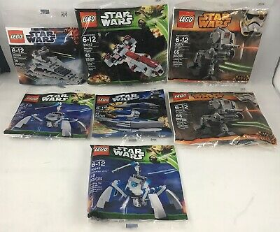 Lot Of 7 Lego Star Wars Polybags 30243 + 30056 + 30055 + 30274 + 30242 Sealed