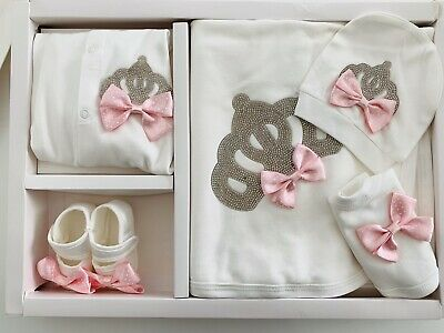 5 Piece Baby Girl Newborn Hospital Outfit Set Gift Clothes Romany Spainish 0-3 M