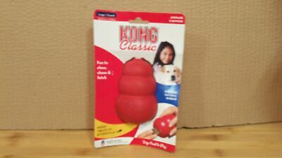 Kong Classic Large Dog Chew Toy Red L 30-65lbs Durable Natural Rubber