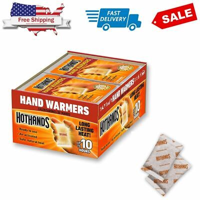 80 Hot Hands Handwarmers Warmers 40 Pairs Outdoor Camping NEW & FREE SHIPPING